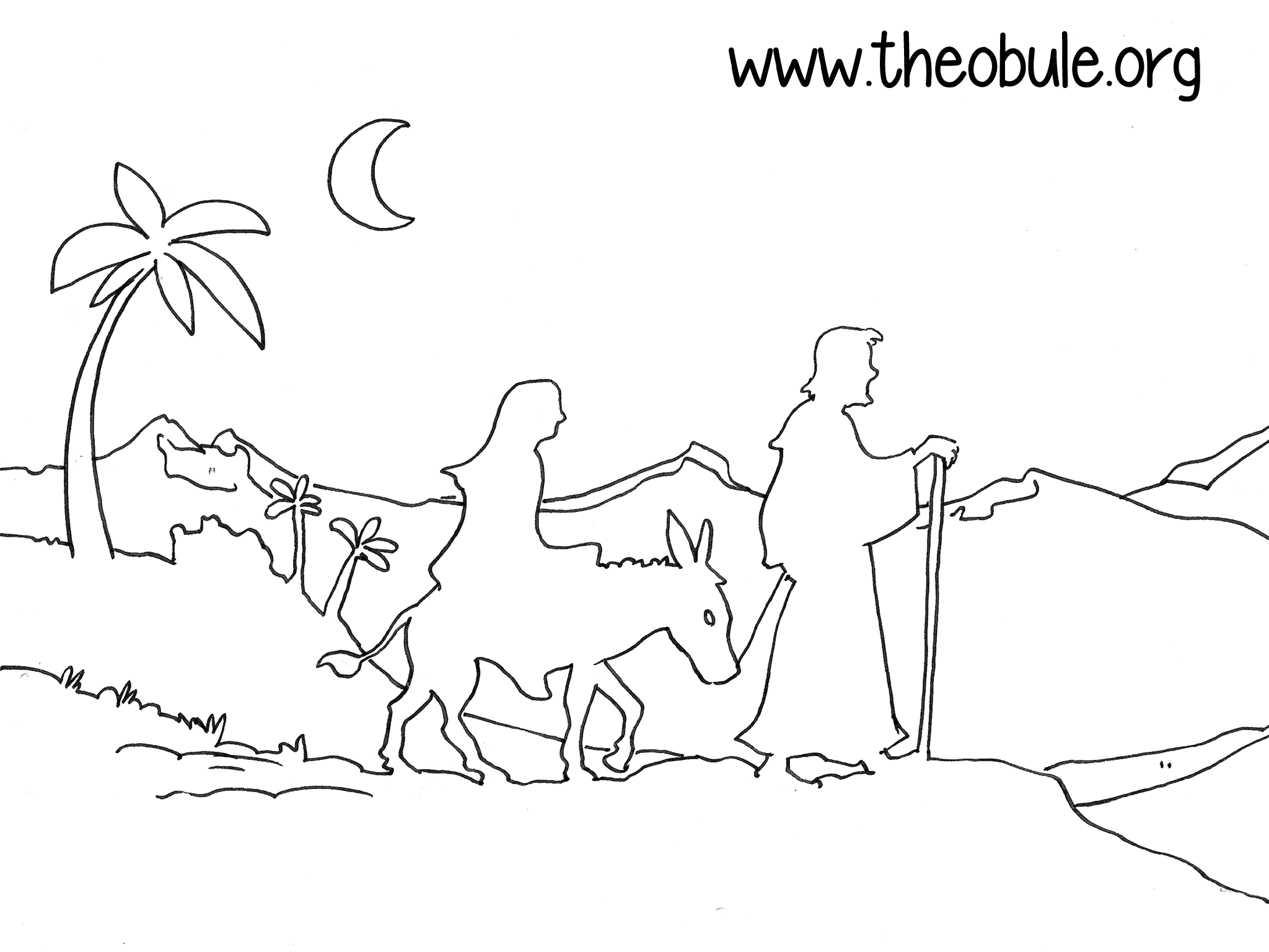 Élégant Image De Creche De Noel A Colorier